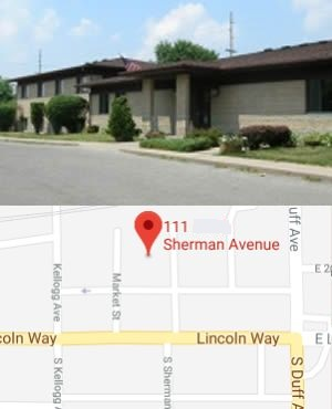 Photo and Map of Ames Probation Parole Office 111 Sherman Avenue